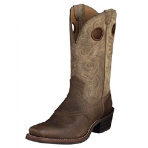 Ariat Men's Cowboy Boots Roughstock Earth Cowhide Square ToeAre you looking for a rugged boot for everyday work and wear