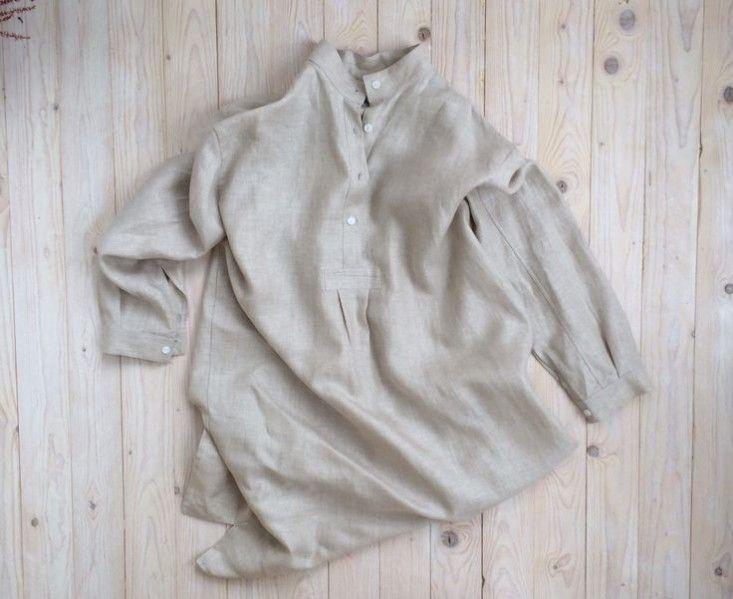 Long Sleep Shirt Oatmeal Linen: Remodelista