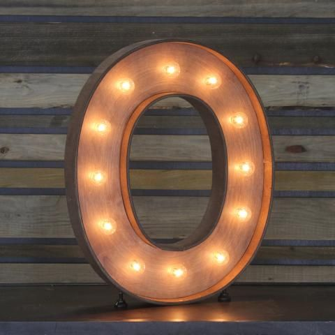 Edison marquee letter o town country event rentals