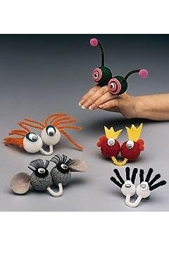 finger puppet friends- Butterfly and her Daddy would love this, since they already do a version of hand puppets together! :)