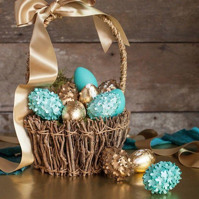 elegant wood easter basket