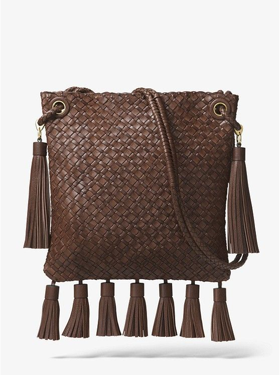 eb1b1fe632f7 Hutton Woven Leather Tassel Crossbody _preview0. Hutton Woven Leather Tassel  Crossbody _preview0 Michael Kors Collection ...