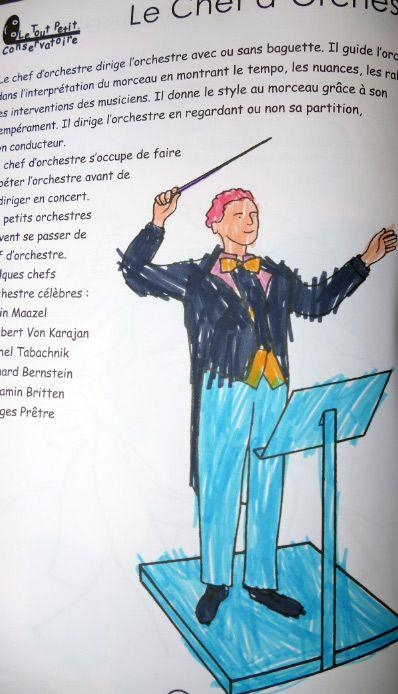 """Coloriage du chef d'orchestre dans """"Je colorie la Musique"""" http://www.letoutpetitconservatoire.com/"""