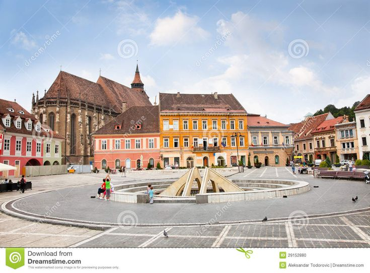 The Council Square In Downtown, Brasov, Romania. - Download From Over 47 Million High Quality Stock Photos, Images, Vectors. Sign up for FREE today. Image: 29152880