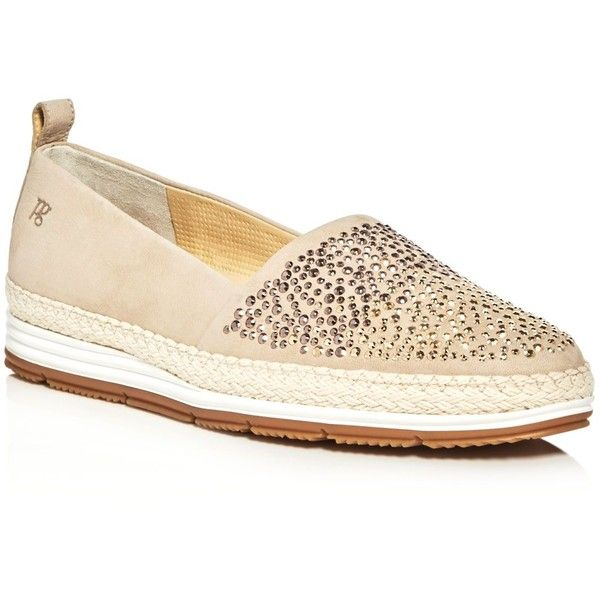 Paul Green Lourdes Embellished Espadrille Platform Loafers ($315) ❤ liked on Polyvore featuring shoes, loafers, beige, embellished loafers, loafers moccasins, paul green shoes, paul green loafers and beige espadrilles
