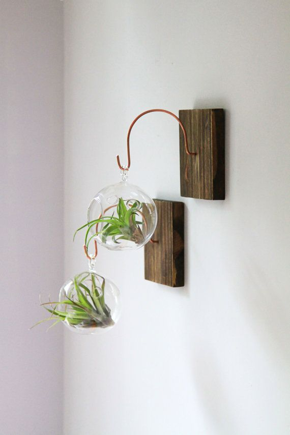 Unique Handmade Wall Decor : Wood and copper wall mount unique decor