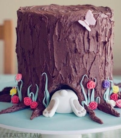 Easter bunny cake, Easter food ideas, Easter table decoration