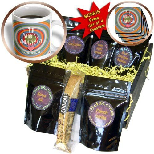 InspirationzStore Occasions - 9th Wedding Anniversary gift - Pottery celebrating 9 years together ninth anniversaries nine yrs - Coffee Gift Baskets - Coffee Gift Basket (cgb_154440_1)