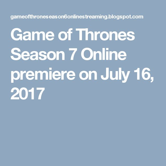 The Adventure, Drama, Fantasy HBO TV Series Game of Thrones season 7 Episode 1 is set to air Sunday, July 16, 2017,Full Watch Game of Thrones Season 7 online, #GotS7 #GameofThrones7