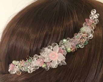 Bridal headpiece handmade. Wire wrapped jewelry by FlowerRainbow