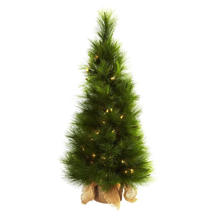 3 ft. Pre-lit Christmas Tree with Burlap Bag - Clear Lights - 5372
