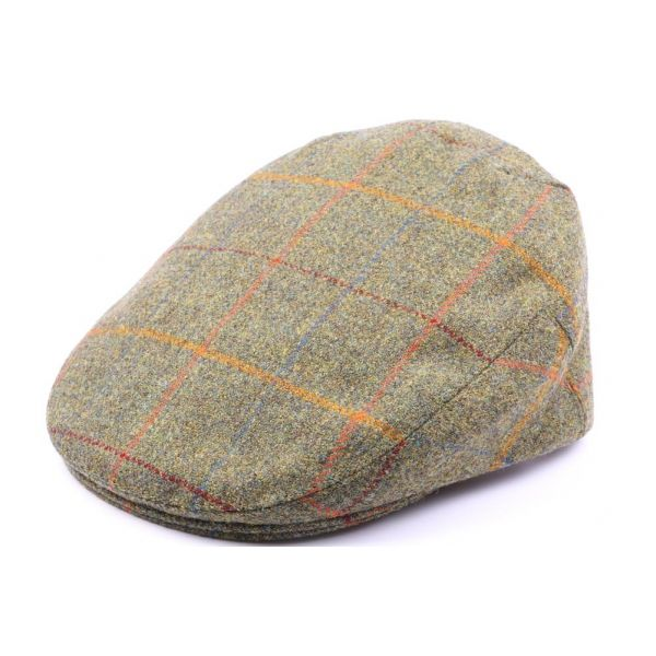 Casquette Plate Hereford Tweed vert, Rouge, taille 58 #casquette #mode #homme #fashion #chic #british