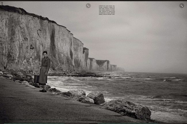 VOGUE ITALIA: MARIACARLA BOSCONO BY PHOTOGRAPHER PETER LINDBERGH