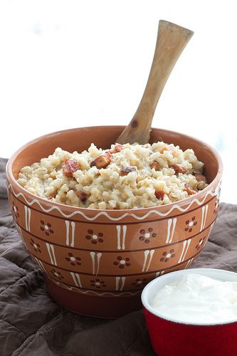 Estonian recipes: Barley with Smoked Pork - My Mom would LOVE this! Have to make it some time soon.
