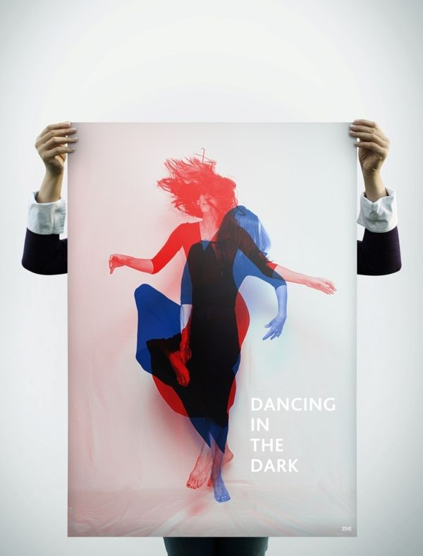 Dancing in the dark by MR ZHE, via Behance