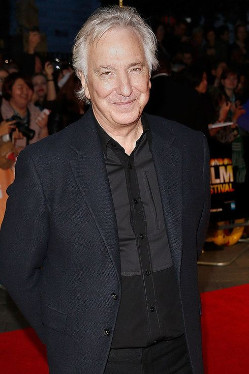 """October 17, 2014 - Alan Rickman at the London premiere of """"A Little Chaos""""."""
