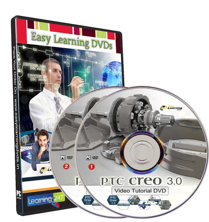 PTC Creo 3.0 Complete Video Tutorials And Guides on 2 DVDs