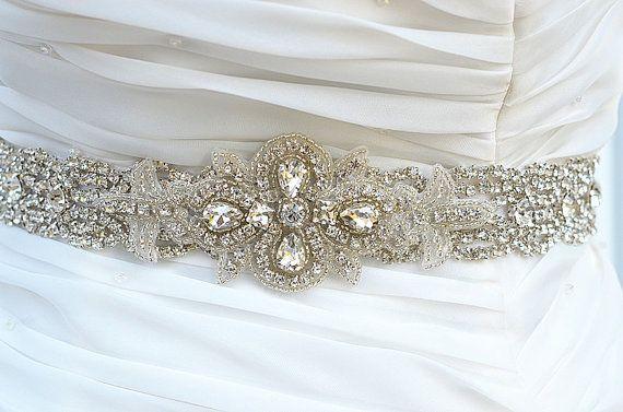 ZOE Strass Hochzeit Braut Schärpe Gürtel von startrim auf Etsy