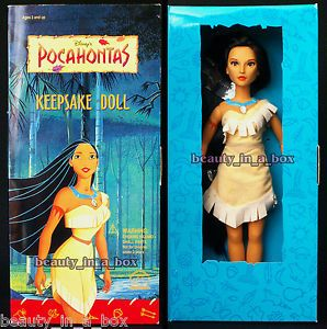 Pocahontas Barbie Doll | Pocahontas Keepsake Doll from Applause 15 Inch Doll Disney Barbie ...