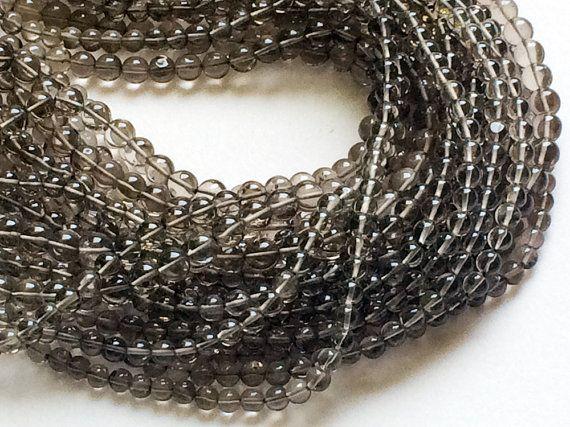 WHOLESALE 5 Strands Smoky Quartz Beads Smoky by gemsforjewels
