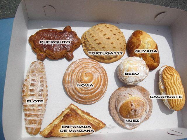 Pan dulce mexicano, biches.