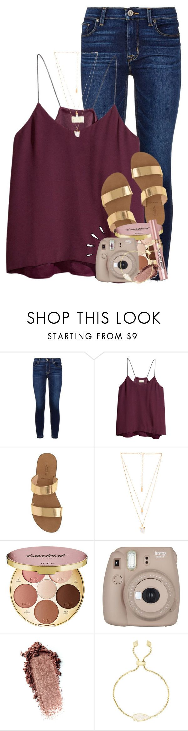 """""""we are beautiful like diamonds in the sky"""" by emilyandella ❤ liked on Polyvore featuring Hudson, H&M, J.Crew, Natalie B, tarte, L'Oréal Paris, Fujifilm, Kendra Scott and Old Navy"""