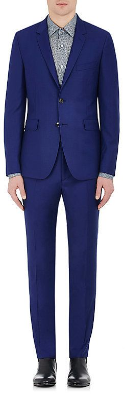 Paul Smith Men's Kensington Wool Two-Button Suit-Blue