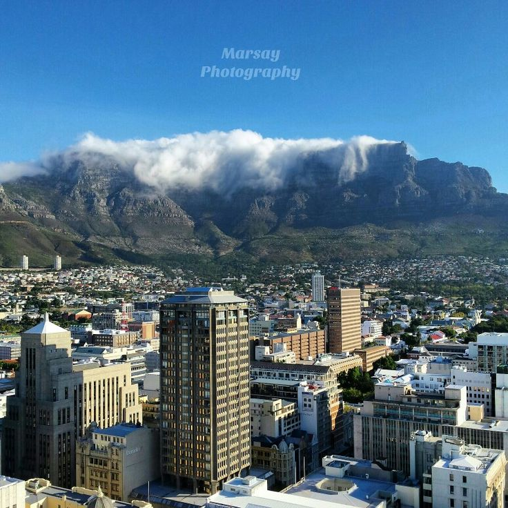 View of Table Mountain, Cape Town,  South Africa
