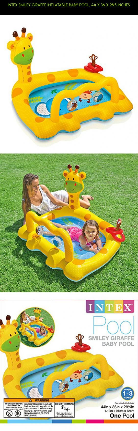 Intex Smiley Giraffe Inflatable Baby Pool, 44 x 36 x 28.5 Inches #pools #camera #technology #plans #kit #parts #racing #gadgets #tech #drone #fpv #shopping #products #inflatable #baby