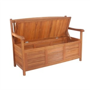 Mimosa Outdoor Storage Bench - Bunnings Warehouse  Store kids balls etc for outdoor living