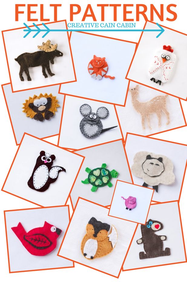 July Felt Pattens Patrones Ornaments And Baby Mobiles