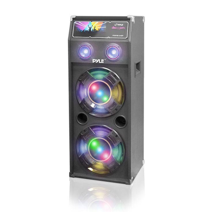 1400 Watt Disco Jam Dual Passive DJ Speaker System w/Flashing DJ Lights (For Use w/ Model PSUFM1245A)