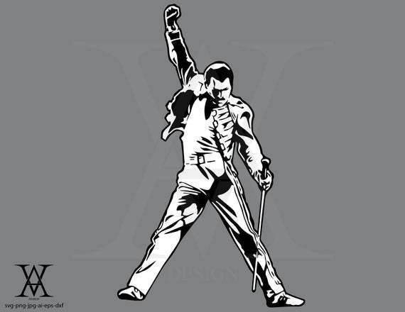 Freddie Mercury Queen Tatuaje De Freddie Mercury Retrato Pictorico Ilustracion Musical