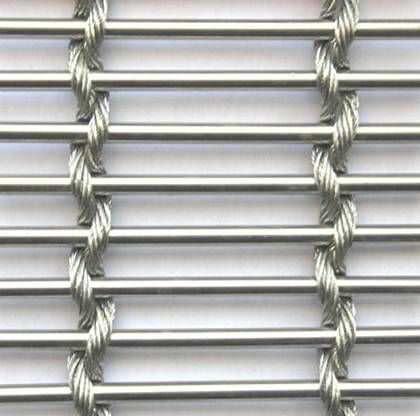 Toile métallique tissée de façade / acier inoxydable / à maillage long. GLADSTONE 50/7 Sunon International Trade Co.,Ltd