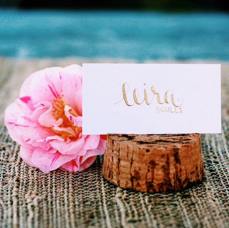 Dinner Party Name Ideas Part - 16: Wedding Place Cards - Escort Card - Gold / Black Calligraphy - Dinner Party  - Name Tag | Www.etsy.com/shop/FullyMade | Party Favors Little Note Thau2026