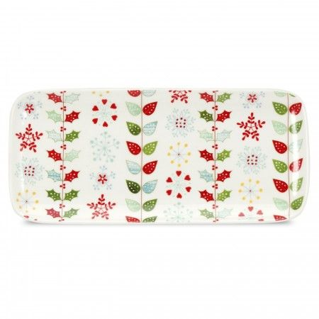 Portmeirion Christmas Wish Sandwich Tray/Yule Log Platter