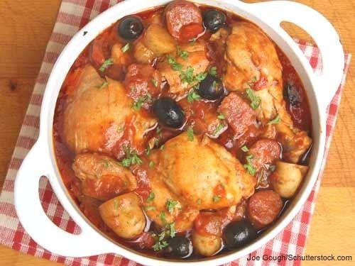 Huhn mit Oliven auf Marokkanisch