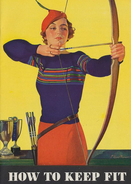 archery image from a 1934 booklet produced by Kellogg Company