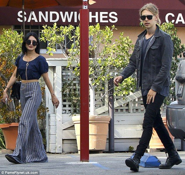 Boho best! Vanessa Hudgens was the height of hippie chic fashion with her loose dark blue ...