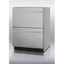 The SCFF55IM2D is a two-drawer freezer with frost-free operation. Fully finished in 304 grade stainless steel, it can function as a freestanding or built-in unit with a fan-cooled compressor. Drawer fronts, interiors and handles are entirely constructed from stainless steel for a modern look on a durable design. A factory-installed ice maker is included for added convenience. To learn more about this product, or view our selection of kitchen major appliances visit us at www.swappliances.com