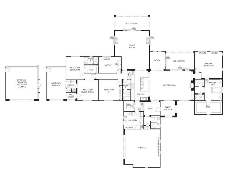 56 best architecture images on Pinterest Archi design - plan de maison rectangulaire plain pied