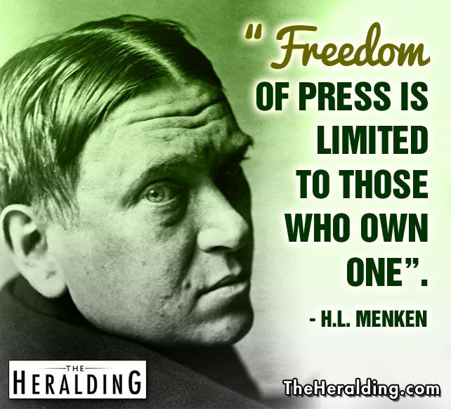#Freedom of press is limited to those who own one. #politics #quotes