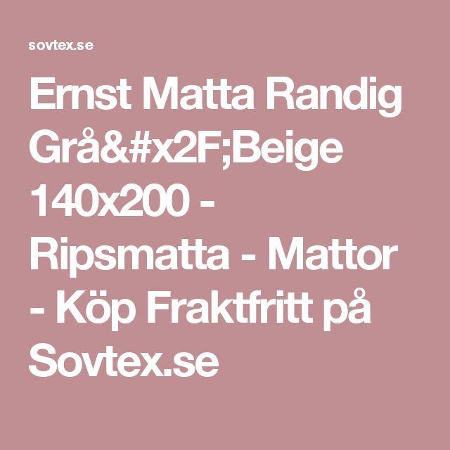 Ernst Matta Randig Grå/Beige 140x200 - Ripsmatta - Mattor - Köp Fraktfritt på Sovtex.se
