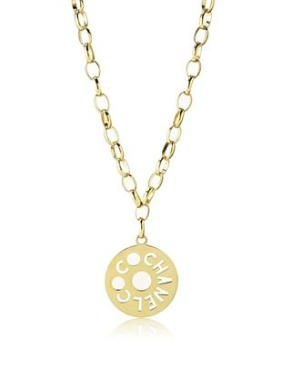 CHANEL Oversized Coco Pendant Necklace