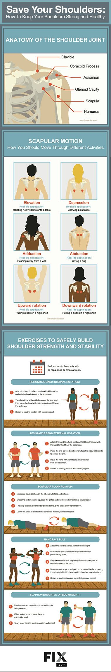 Learn how to improve shoulder health and reduce future pain, strain, and injury.