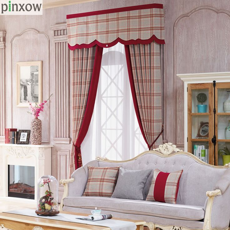 Interior Inspiration Red Plaid Curtain For Bedroom Luxury Chenille Thick  Window Panels Scotland Blinds Custom Made Elegant Drapes For Living Room  New ...