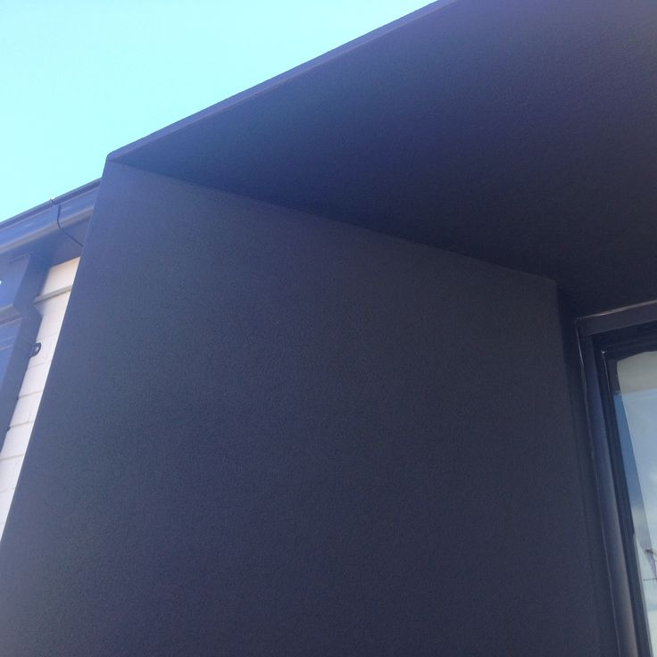 My latest project! A granny flat / home studio / teenager retreat in Bondi Beach. Exterior portico in Monument by Dulux