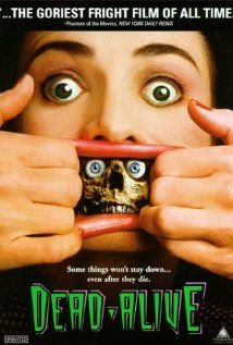 Braindead (1992)  Directed by Peter Jackson.  Starring Timothy Balme, Diana Penalver, and Elizabeth Moody.