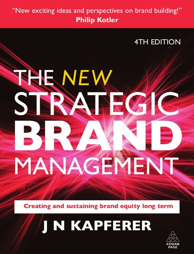 """New exciting ideas and perspectives on brand building are offered that have been absent from our literature.""Philip Kotle..."