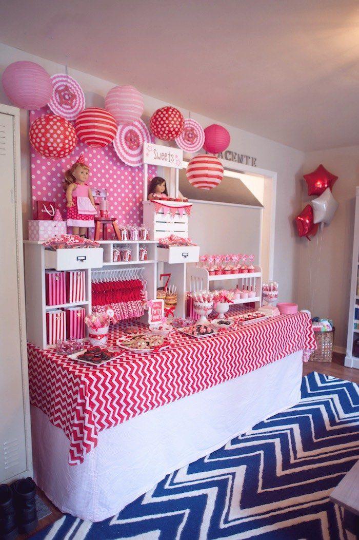 Dessert Table from an American Girl Doll Themed Birthday Party via Kara's Party Ideas! KarasPartyIdeas.com (33)